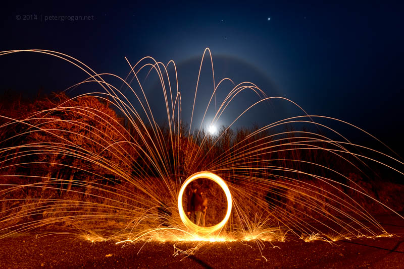 steelwool spinning moon